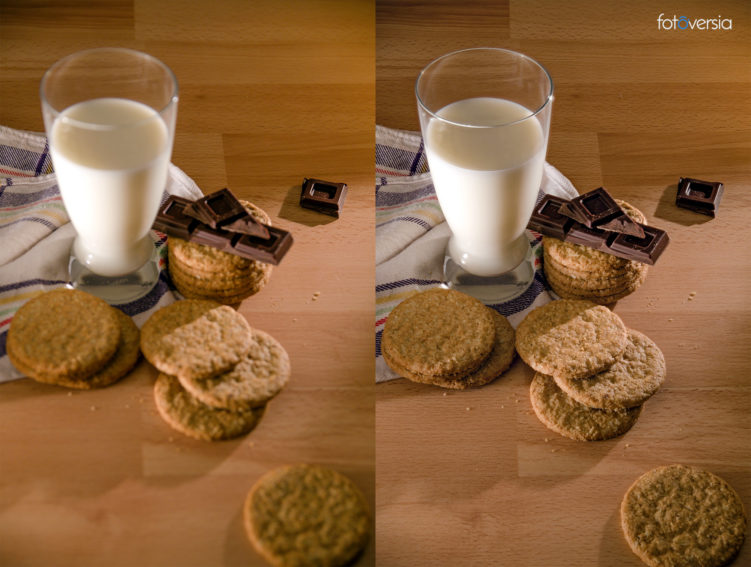 Antes y después del focus stacking